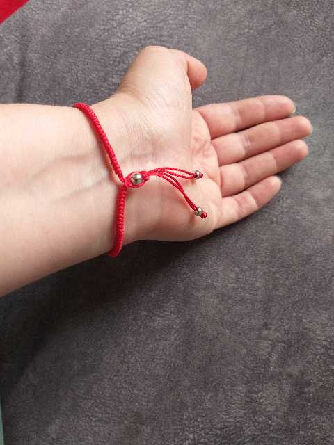 Красная нить с серебром