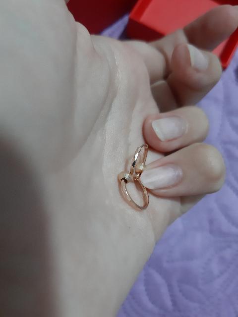 Серьги-кольца с шариками