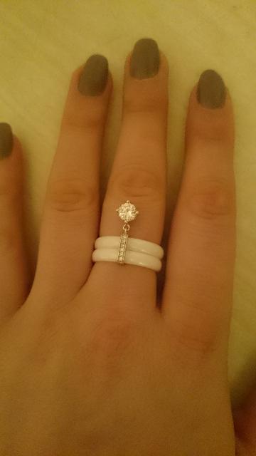 Кольцо 💍 керамическая