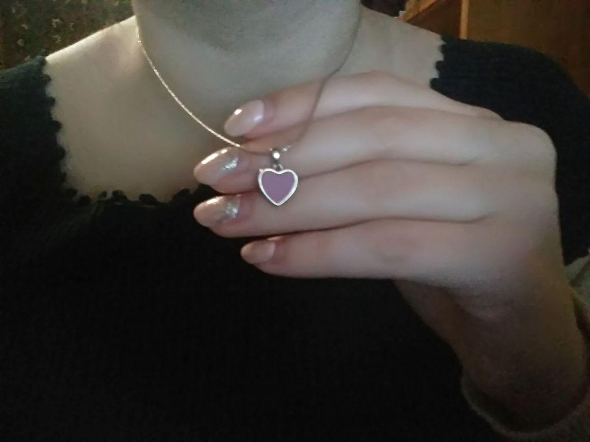 Подвеска друза кристаллов в виде сердца нежно розового цвета с голубым