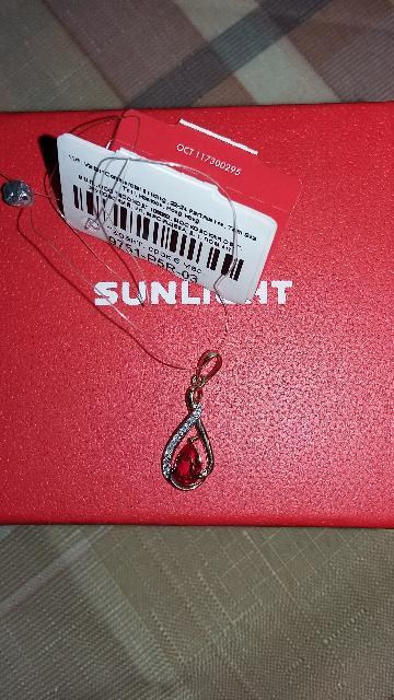 Подвеска с рубином и бриллиантами