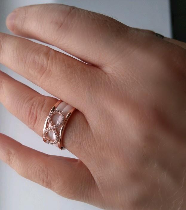 Кольцо серебро с керамикой