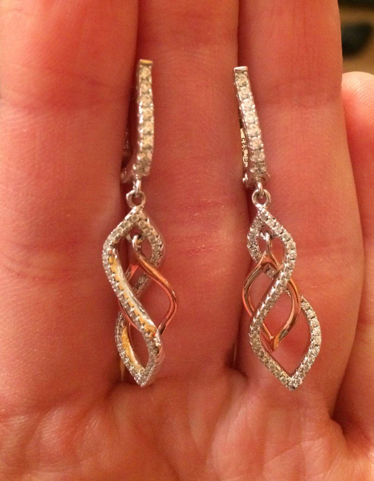 Серебряные сережки под золото