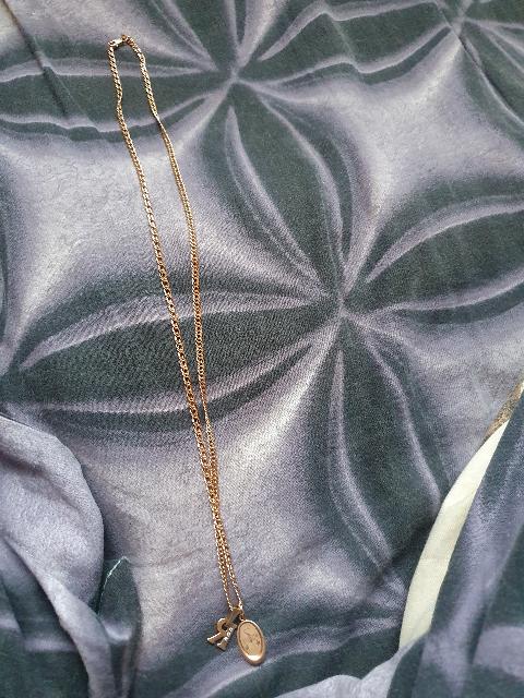 Золотая цепь, двойной ромб, 60 см.