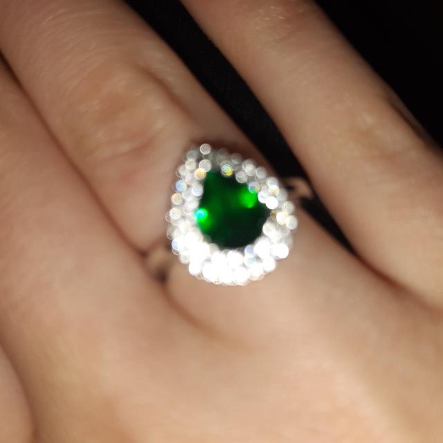 Серебряное кольцо с талантом и фианитами