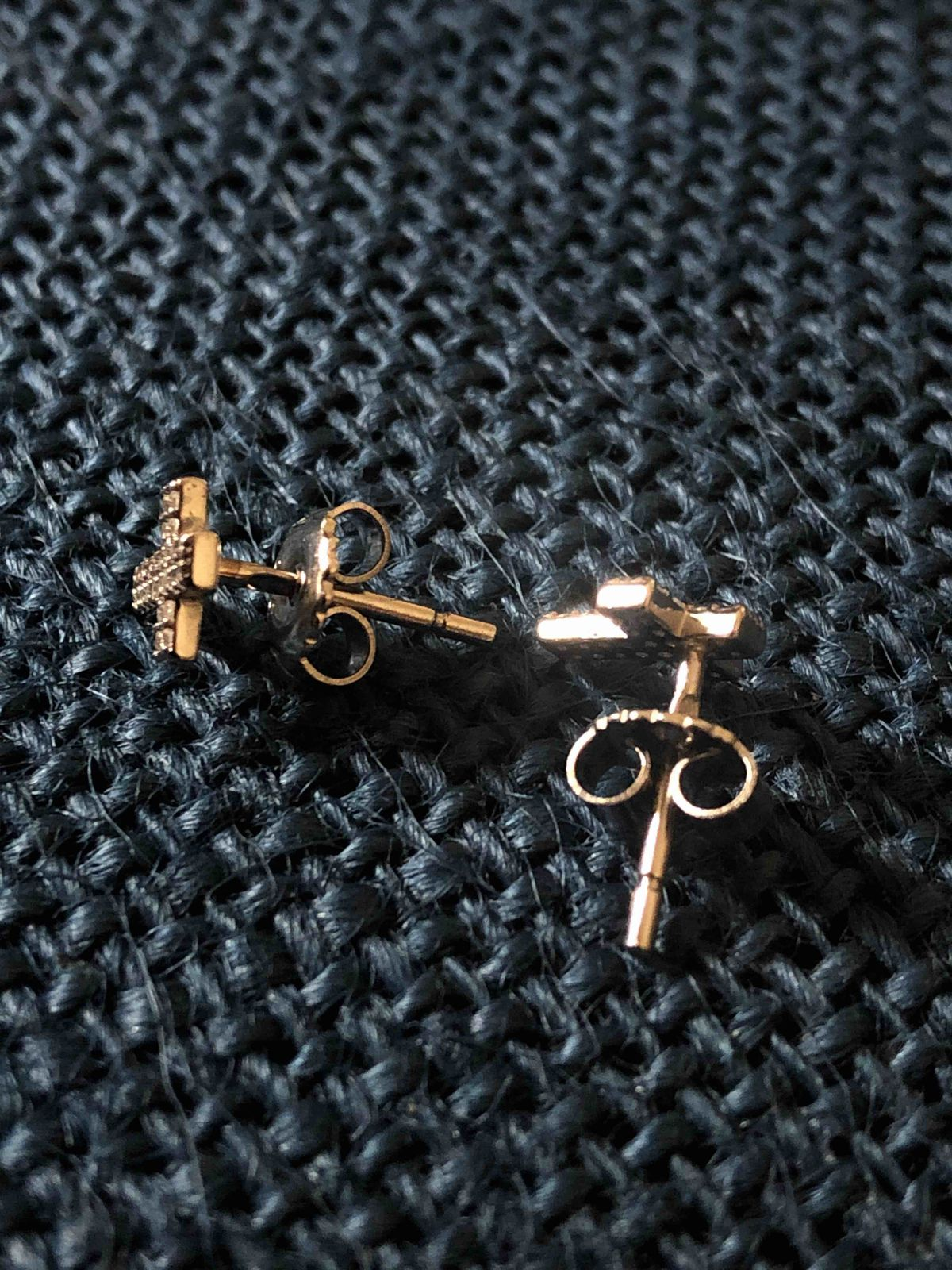 Сережки крестики
