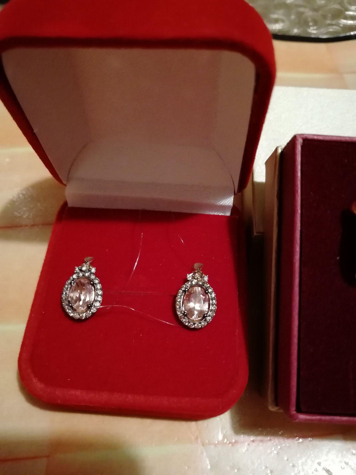 Артикул: 87345 золотые серьги с коньячными бриллиантами