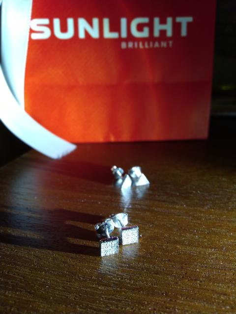 Сережки гвоздики квадратики