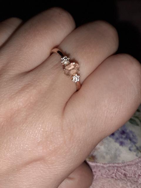 Очень красивое нежное кольцо