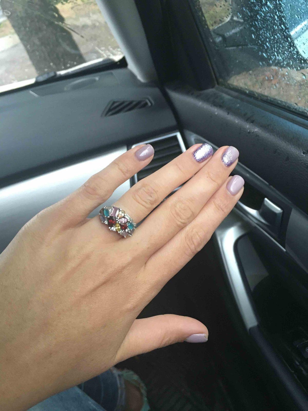Комплект, кольцо и серьги