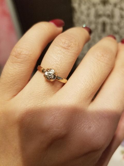 Классическое красивое кольцо