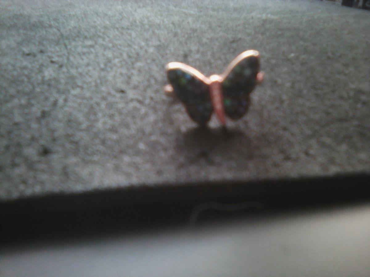 Колечко с перламутровой бабочкой