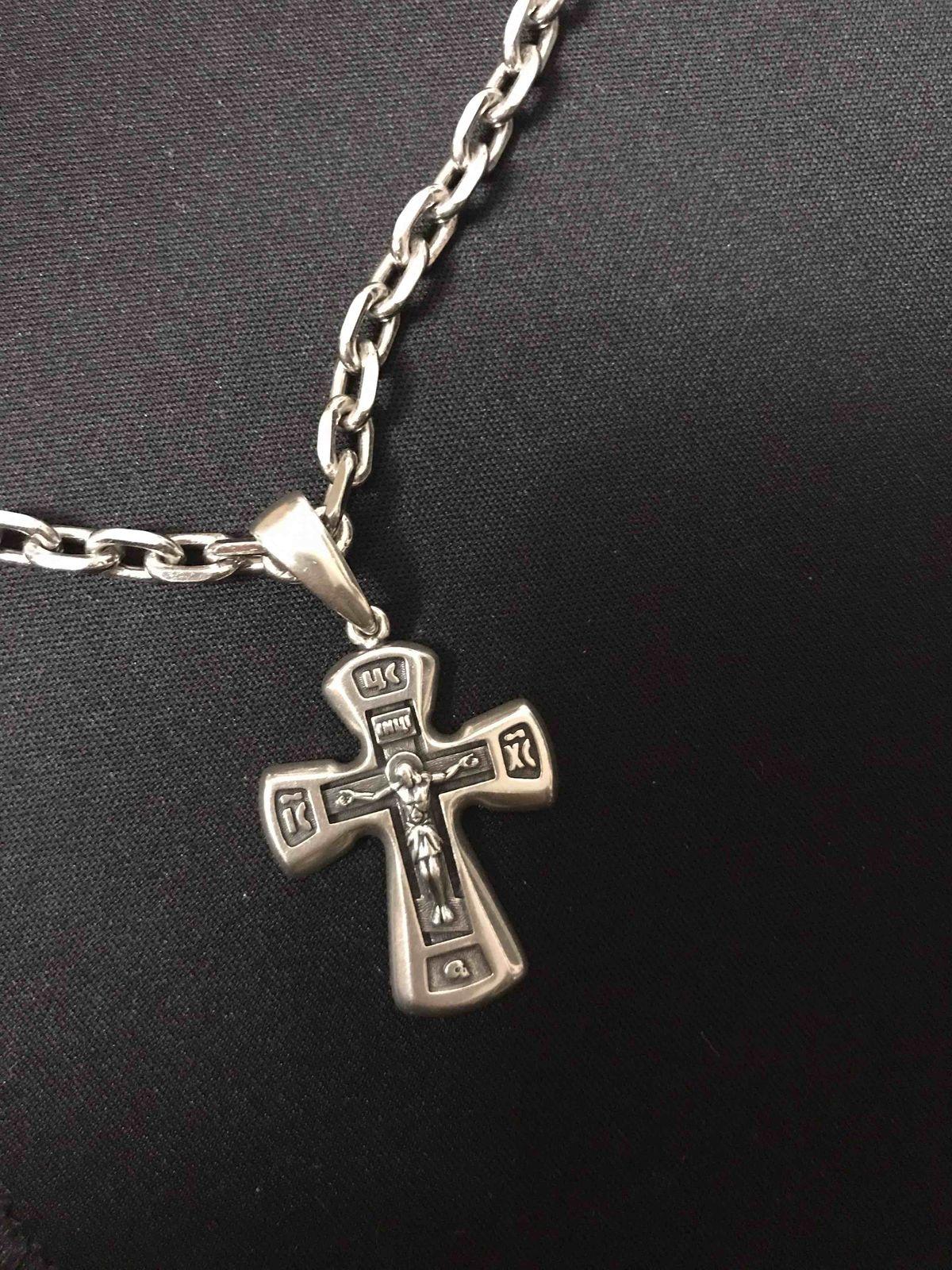 Мужской крест «Спаси сохрани»