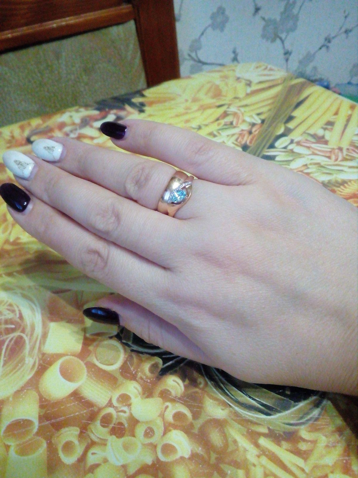 Комплект кольцо и серьги с топазом