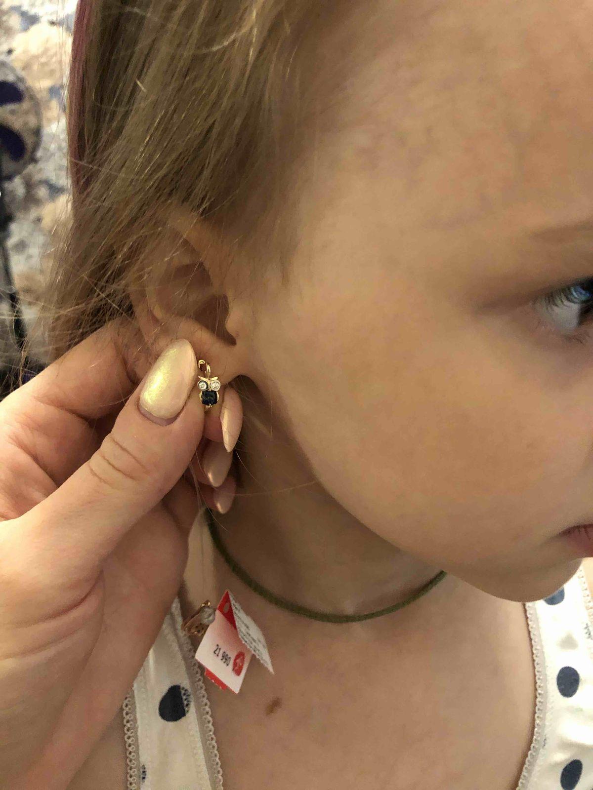 Серьги для дочери с бриллиантами и сапфирами