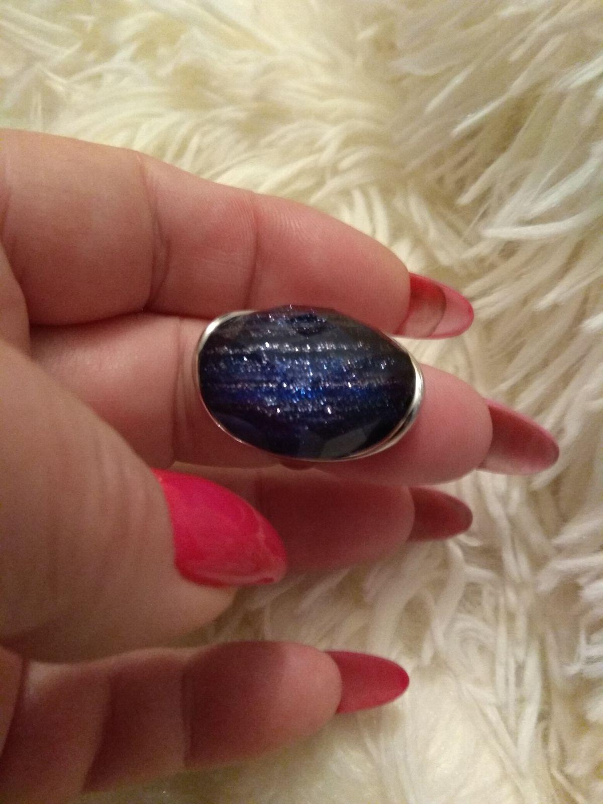 Серебряное кольцо с алпанитом давно мечтала иметь такое колечко. красивое!!