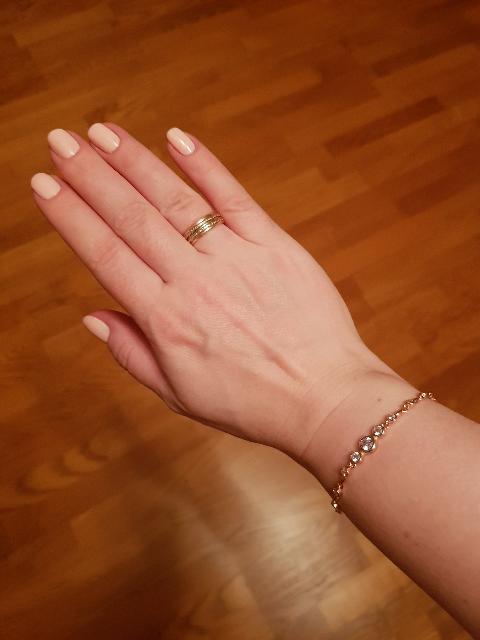 Позолоченный браслет с фианитами