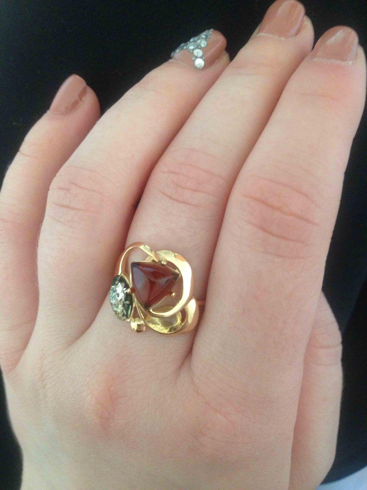 Красивое серебрянное кольцо!