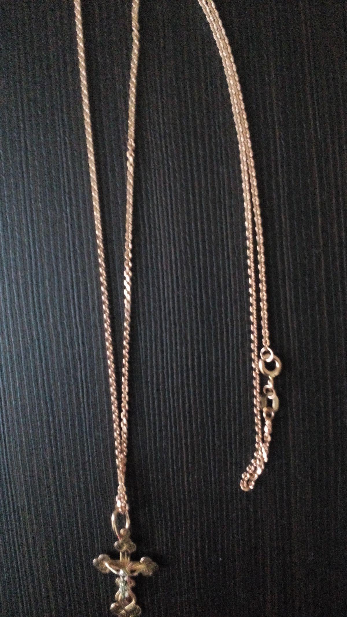 Золотая цепь длина 60см