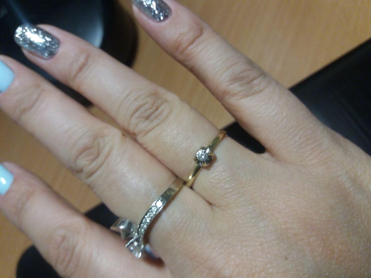 Кольцо с бриллиантам