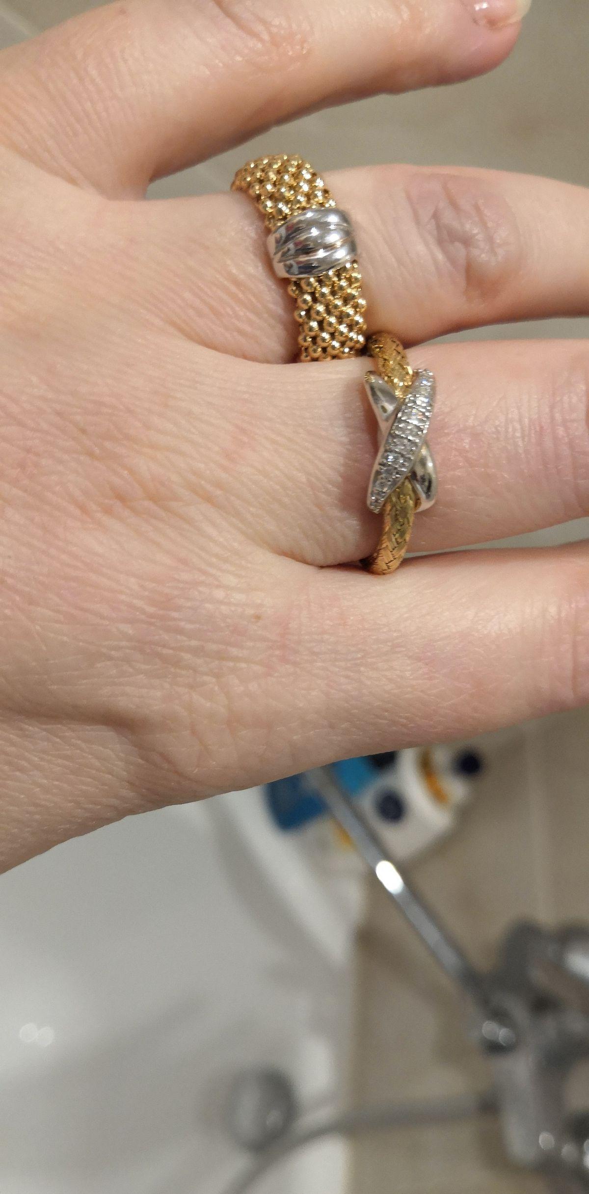 Серебрянное колечко тз итальянской коллекции