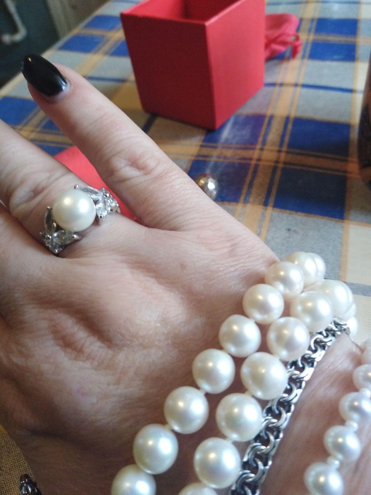 Кольцо жемчужное