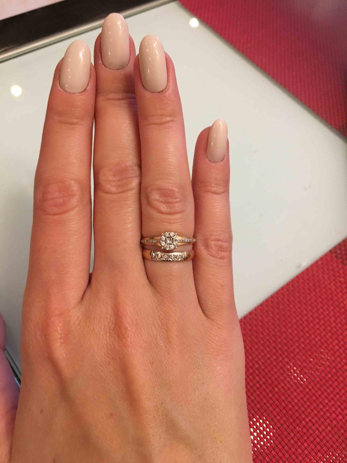 Миниатюрное обручальное кольцо